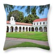 Mission San Luis Rey Patio Throw Pillow