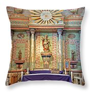 Mission San Miguel Arcangel Altar, San Miguel, California Throw Pillow