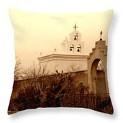 Mission San Xavier Chapel Throw Pillow