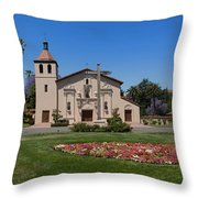 Mission Santa Clara De Asis Throw Pillow