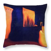 Mission St Francis Assisi At Dusk Throw Pillow