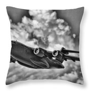 Mission-strategic Airlift Throw Pillow