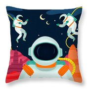 Mission To Mars Throw Pillow