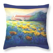 Mission Wildflowers Throw Pillow