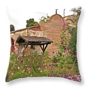 Mission Wish, Mission San Juan Capistrano, California Throw Pillow