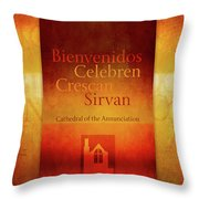 Mission Words, Spanish Throw Pillow