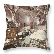 Mississippi Cotton Gin At Dahomey Throw Pillow