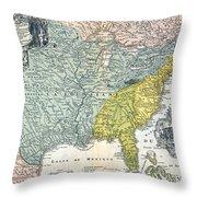 Mississippi Region, 1687 Throw Pillow