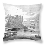 Mississippi River, 1854 Throw Pillow