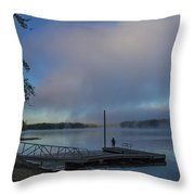 Mississippi River In Wisconsin Throw Pillow
