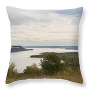 Mississippi River Lake Pepin 10 Throw Pillow