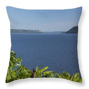 Mississippi River Lake Pepin 2 Throw Pillow