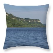 Mississippi River Lake Pepin 4 Throw Pillow