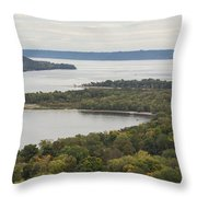 Mississippi River Lake Pepin 7 Throw Pillow
