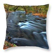 Mississippi River Minneapolis Throw Pillow
