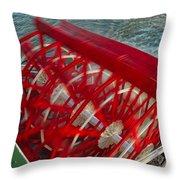 Mississippi River Sternwheeler - New Orleans Throw Pillow