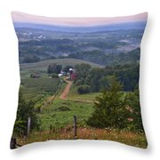 Mississippi River Valley 2 Throw Pillow