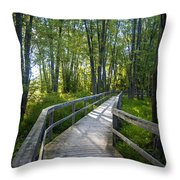 Mississippi Riverwalk Trail - Carleton Place, Ontario Throw Pillow