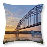 Mississippi Sunrise Crossing Throw Pillow