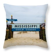 Mississippi Welcome Throw Pillow
