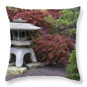 Missouri Botanical Garden A Japanese Snow Viewing Lantern Spring Time Dsc01783 Throw Pillow