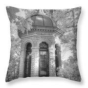 Missouri Botanical Garden Henry Shaw Crypt Infrared Black And White Throw Pillow