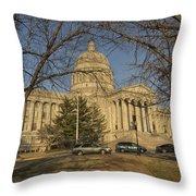 Missouri Capital Building Jefferson City Dsc00653 Throw Pillow