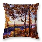 Missouri River In Fall Throw Pillow
