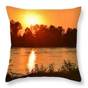 Missouri River In St. Joseph Throw Pillow