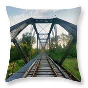 Missouri Side Of Track's Throw Pillow