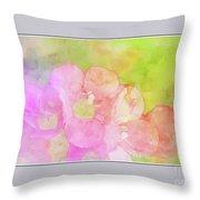 Missouri Wildflowers 5  - Polemonium Reptans -  Digital Paint 8 Throw Pillow