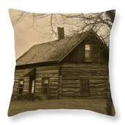 Missuakee County Log Cabin Throw Pillow