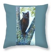 Missy In Tree Throw Pillow