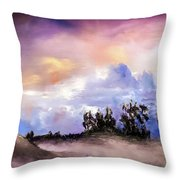 Mist After The Storm Throw Pillow