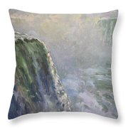 Mist At Horseshoe Falls  Throw Pillow