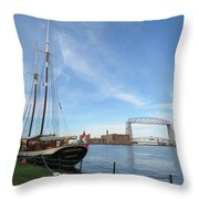 Mist Of Avalon Lift Bridge Throw Pillow