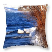 Mist On Kalamalka Throw Pillow
