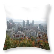 Mist Over Montreal Throw Pillow