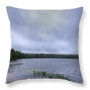 Mist Over Nicks Lake Throw Pillow