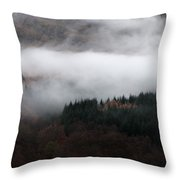 Mist Rolling Down Throw Pillow