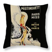 Mistanguette At The Casino De Paris Throw Pillow