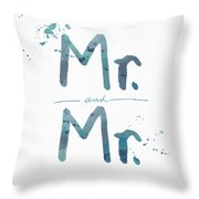 Mister And Mister  Throw Pillow