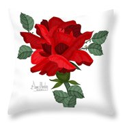 Mister Lincoln In The Garden Throw Pillow