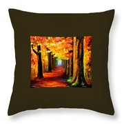 Mistery Alley Throw Pillow