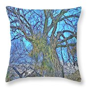 Mistletoe Tree Throw Pillow