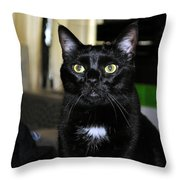 Mistress Of The Dark Throw Pillow