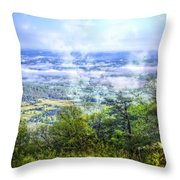 Mists In The Valley Throw Pillow