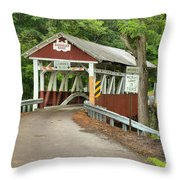 Misty Afternoon At Burkholder Throw Pillow