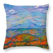 Misty Blue Ridge Autumn Throw Pillow