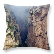 Misty Canyons Throw Pillow